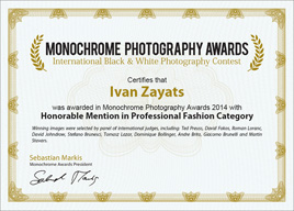 Monochrome Awards 2014, Honorable Mention (Fashion)