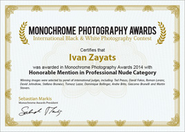 Monochrome Awards 2014, Honorable Mention (Nude)